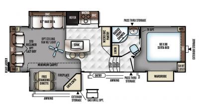 2018 Rockwood Signature Ultra Lite 8289WS Floor Plan