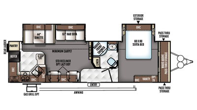 2018 Rockwood Signature Ultra Lite 8310SS Floor Plan