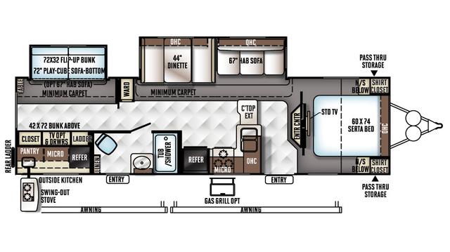 2018 Rockwood Signature Ultra Lite 8312SS Floor Plan
