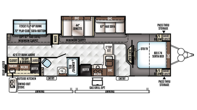 2018 Rockwood Signature Ultra Lite 8312SS Floor Plan