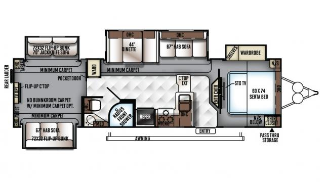 2018 Rockwood Signature Ultra Lite 8326bhs Floor Plan