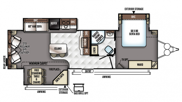 2018 Rockwood Signature Ultra Lite 8329SS Floor Plan