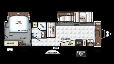 2018 Rockwood Signature Ultra Lite 8335BSS Floor Plan