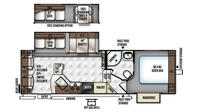 2016 Rockwood Ultra Lite 2720WS Floor Plan