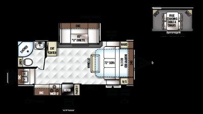 2018 Rockwood Ultra Lite 2304ds Floor Plan