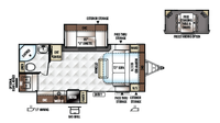 2019 Rockwood Ultra Lite 2304DS Floor Plan