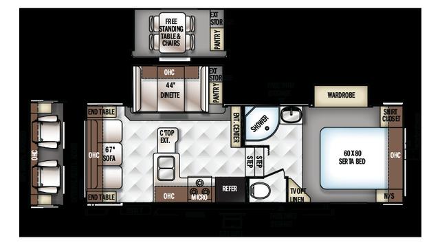 2018 Rockwood Ultra Lite 2440WS Floor Plan