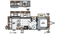 2019 Rockwood Ultra Lite 2604WS Floor Plan