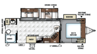 2019 Rockwood Ultra Lite 2606WS Floor Plan