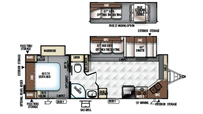 2018 Rockwood Ultra Lite 2608WS Floor Plan