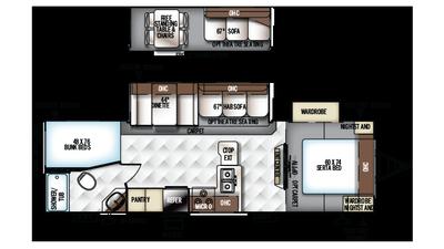 2018 Rockwood Ultra Lite 2702ws Floor Plan