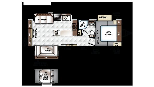 2018 Rockwood Ultra Lite 2703ws Floor Plan