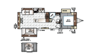 2019 Rockwood Ultra Lite 2703WS Floor Plan