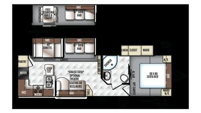 2018 Rockwood Ultra Lite 2902ws Floor Plan
