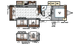 2019 Rockwood Ultra Lite 2906WS Floor Plan