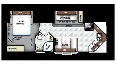 2018 Rockwood Ultra V 2618VS Floor Plan