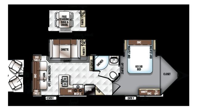 2018 Rockwood Ultra V 2811VS Floor Plan