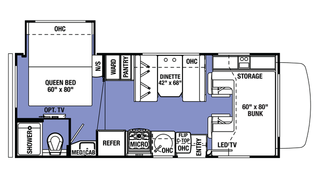 2018 Sunseeker LE 2250S CHEVY Floor Plan