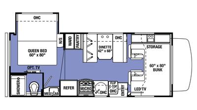 2018 Sunseeker LE 2250S CHEVY Floor Plan