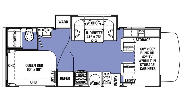 2018 Sunseeker 2290S CHEVY Floor Plan