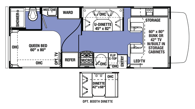 2018 Sunseeker 2300 FORD Floor Plan