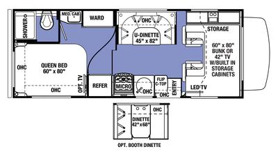 2018 Sunseeker 2300 CHEVY Floor Plan
