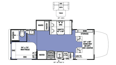 2018 Sunseeker MBS 2400S Floor Plan