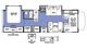 2018 Sunseeker 2860DS FORD Floor Plan