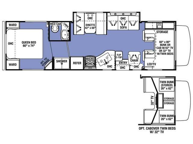 2017 Sunseeker 3100SS Floor Plan