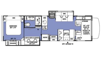 2018 Sunseeker 3170DS Floor Plan
