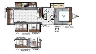 2017 Flagstaff Super Lite 29KSWS Floor Plan