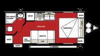 2013 Wildwood X-Lite 221RB Floor Plan