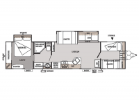 2012 Wildwood 36BHBS Floor Plan
