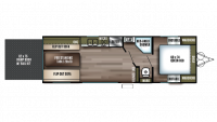 2019 Wildwood FSX 260RT Floor Plan
