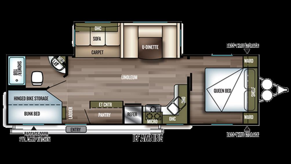 2019 Wildwood 27DBK Floor Plan Img