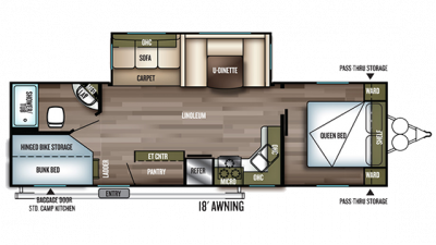 2019 Wildwood 27DBK Floor Plan Img