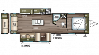 2019 Wildwood 27REI Floor Plan