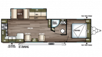 2019 Wildwood 27RKSS Floor Plan