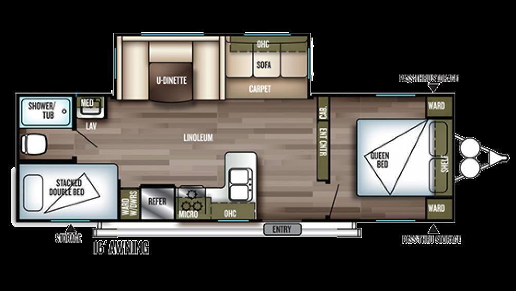 2019 Wildwood 28DBUD Floor Plan Img