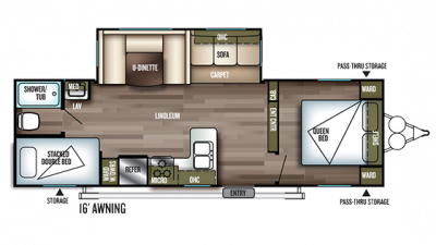 2019 Wildwood 28DBUD Floor Plan Img