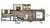 2019 Wildwood 30KQBSS Floor Plan