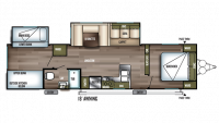 2019 Wildwood 32BHDS Floor Plan