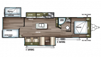 2019 Wildwood 32BHI Floor Plan