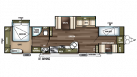 2019 Wildwood 36BHBS Floor Plan
