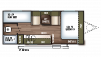 2019 Wildwood FSX 197BH Floor Plan