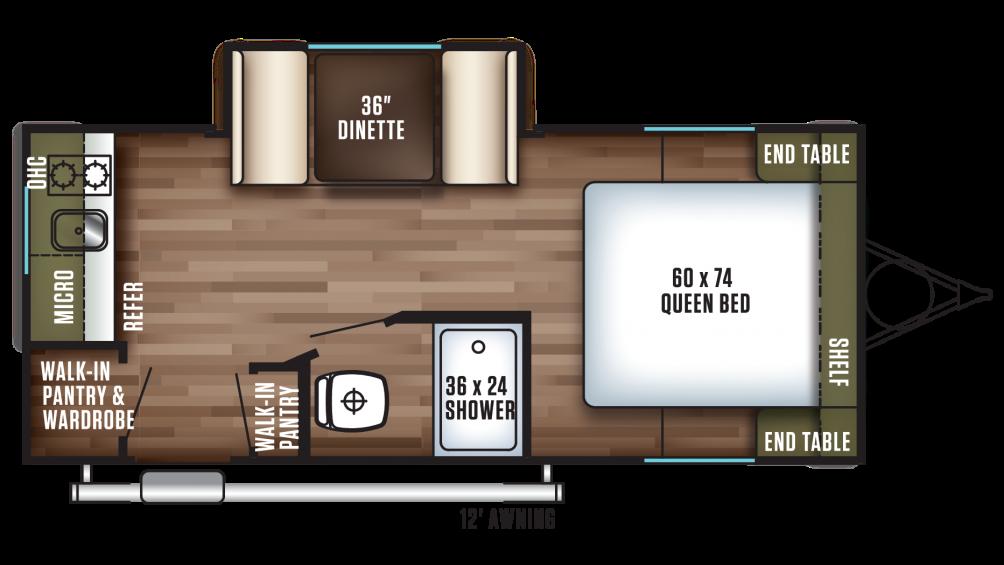 2018 Wildwood FSX 200RK Floor Plan Img