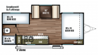 2019 Wildwood FSX 207BH Floor Plan