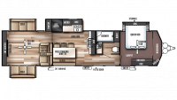 2018 Wildwood Lodge 395RET Floor Plan