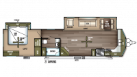 2018 Wildwood Lodge 394FKDS Floor Plan