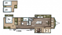 2019 Wildwood Lodge 4092BFL Floor Plan
